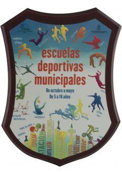 Trofeo escudo madera