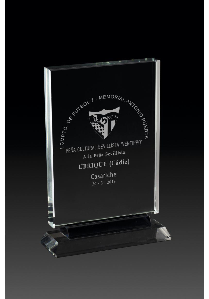 Trofeo de cristal rectangular cristal