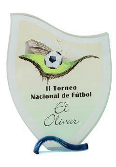 Trofeo de cristal onda