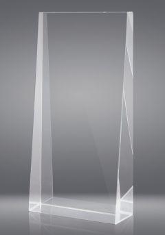 Trofeo de cristal en forma de cuña XXL