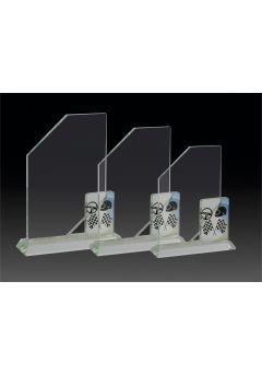 Trofeo de cristal vela aplique deportivo Thumb
