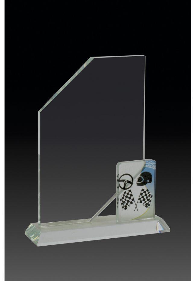 Trofeo de cristal vela aplique deportivo
