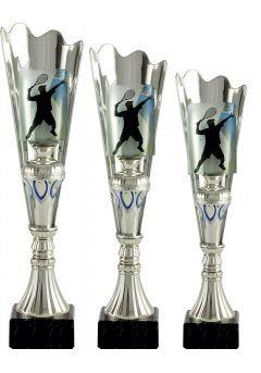 Trofeo medio cono cristal aplique deportivo Thumb