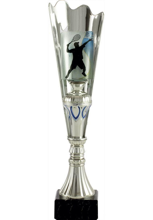 Trofeo medio cono cristal aplique deportivo