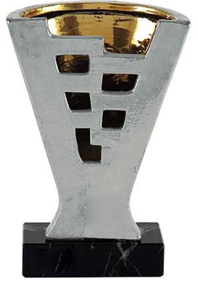 Trofeo jarrón plano calado