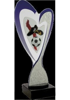 Trofeo corazón metacrilato aplique deportivo