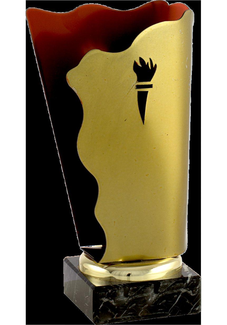 Trofeo antorcha metal