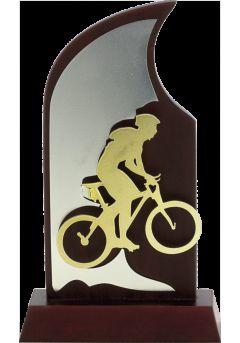 Trofeo en madera para ciclismo