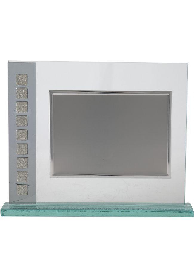 Placa de homenaje cristal cuadrados
