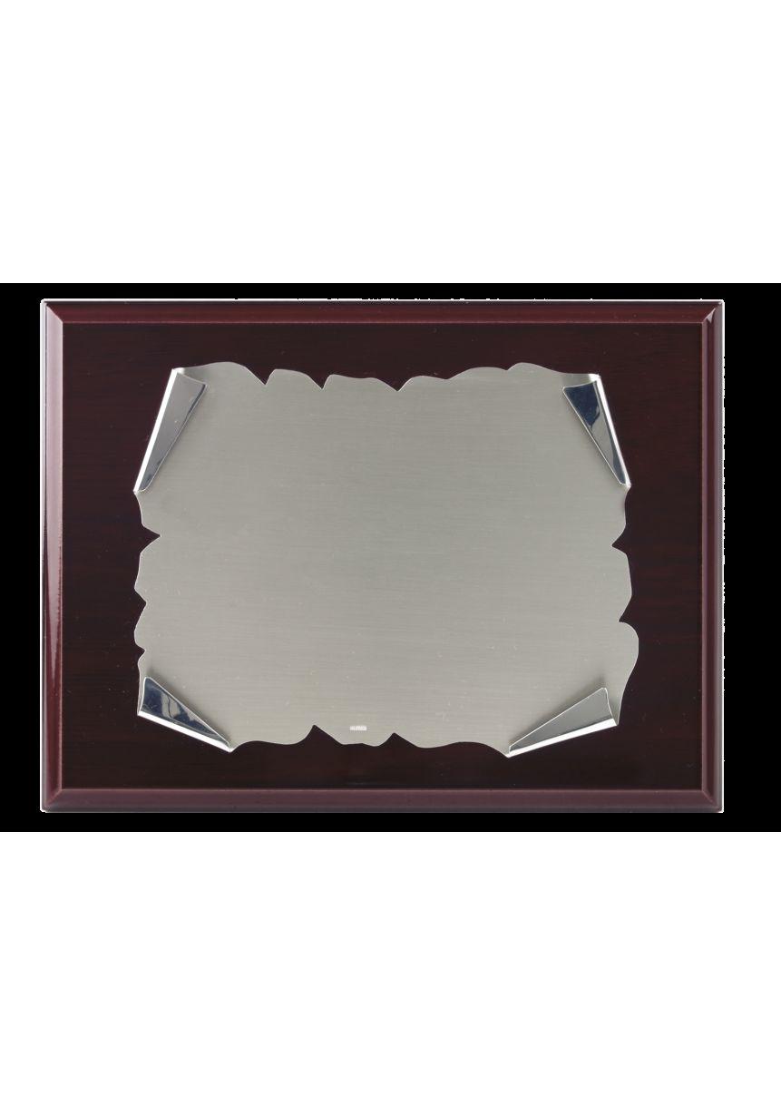 Placa de homenaje alpaca pergamino