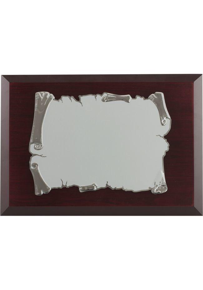 Tributo placa de prata sublimação cor do pergaminho