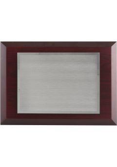 Placa de homenaje madera placa metal impresión color
