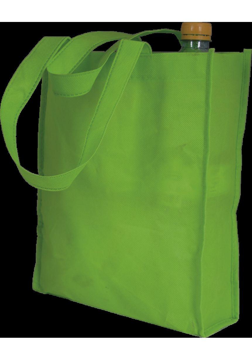 Bolsa verde con asas largas