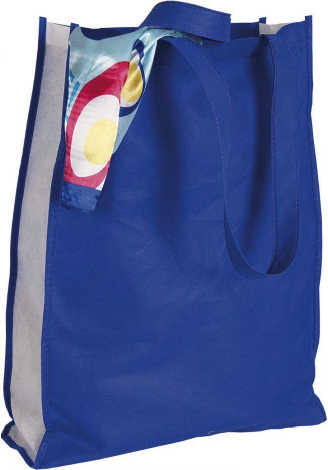 Bolsa azul con asas largas