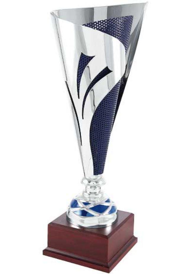 Trofeo copa cono stelo bicolor