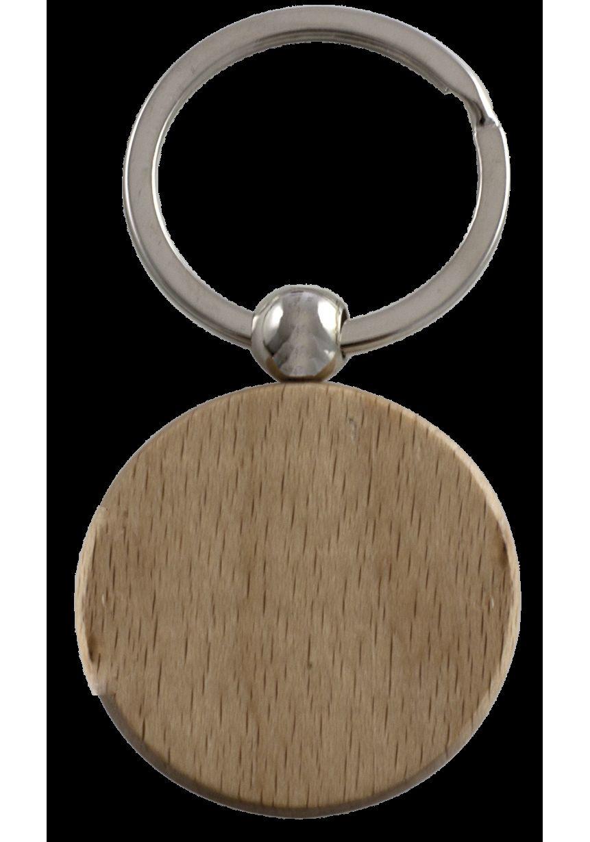 Llavero madera redonda
