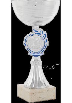 trofeo copa abstracta plata azul 11
