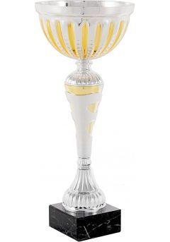 Trofeo copa balón entramado dorado