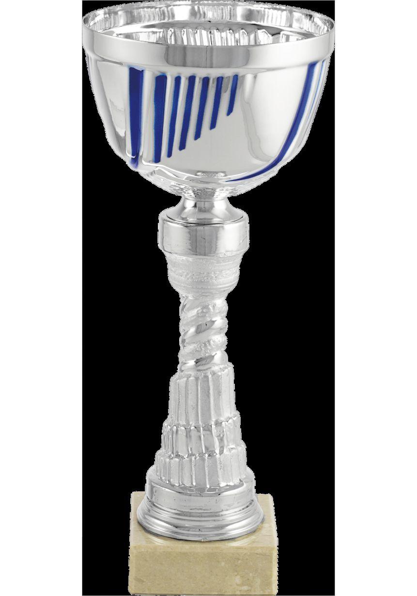 Trofeo copa balón detalle azul