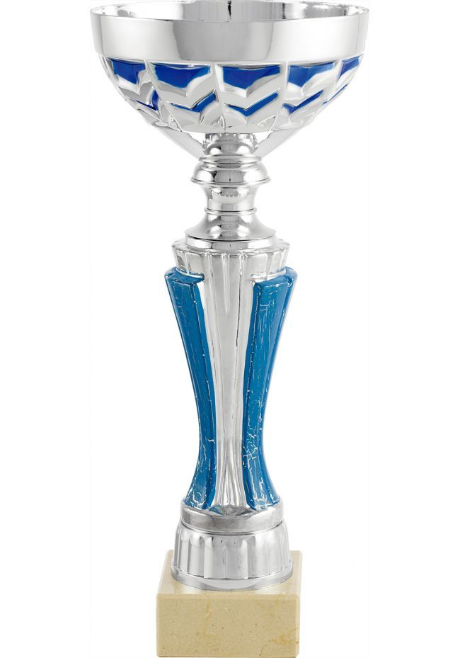Trofeo copa balón azul trapecios
