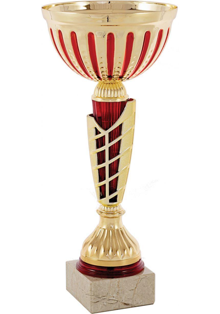 Trofeo copa balón detalle rojo