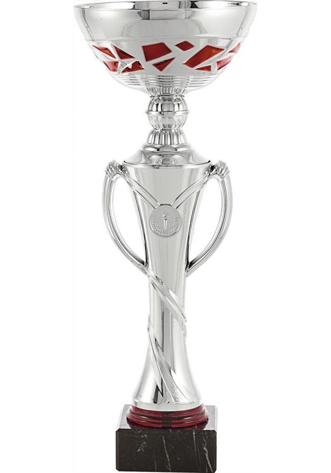 Trofeo copa balón portadisco rojo