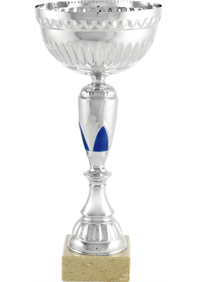 Trofeo copa balón azul labrada