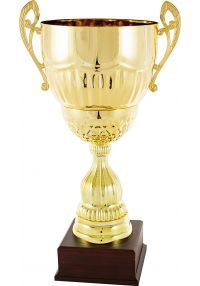 Trofeo copa cáliz dorado asas