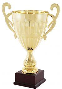 Trofeo copa dorada estilo olímpico de máxima calidad