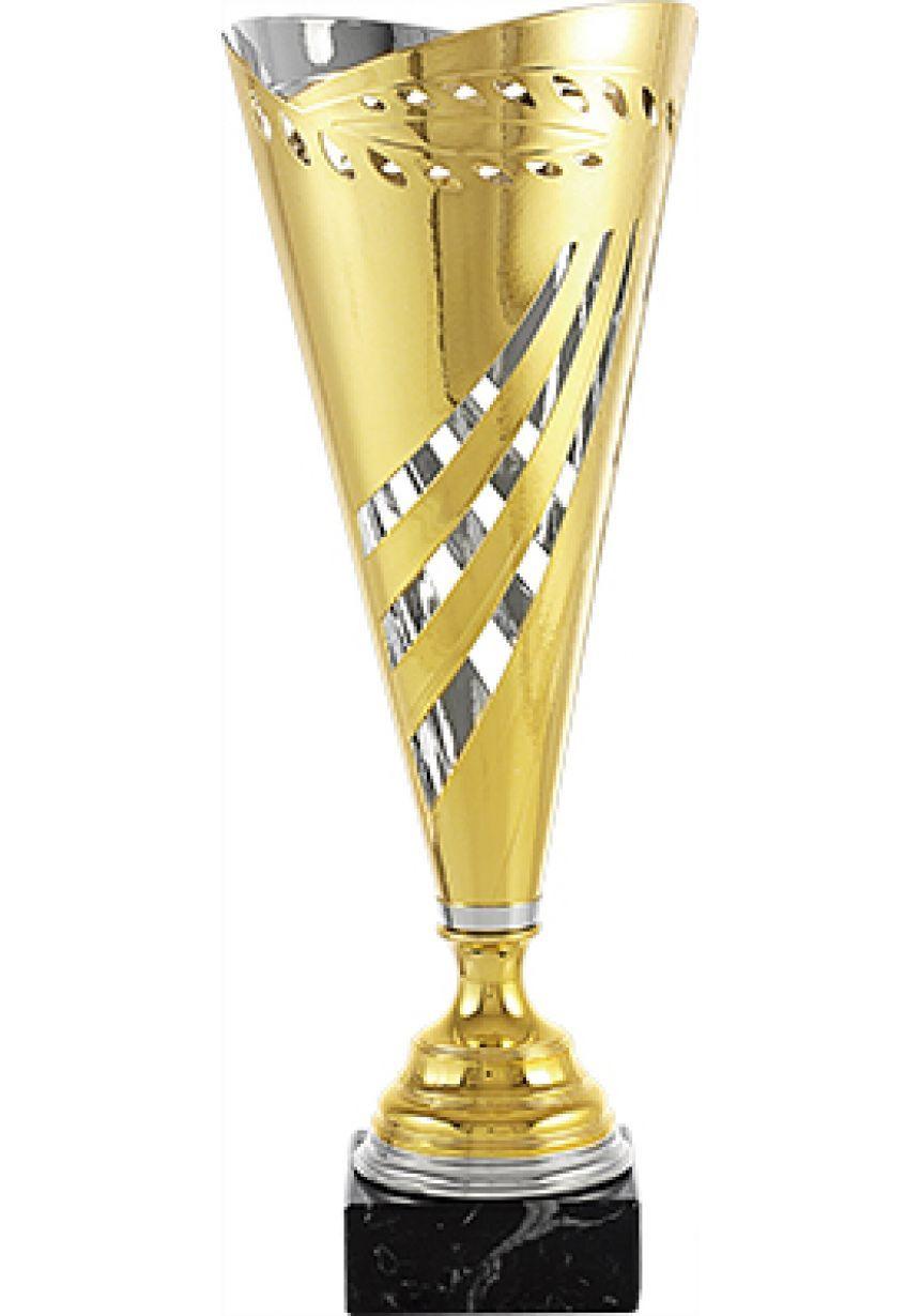 Trofeo copa corte geométrico laurel