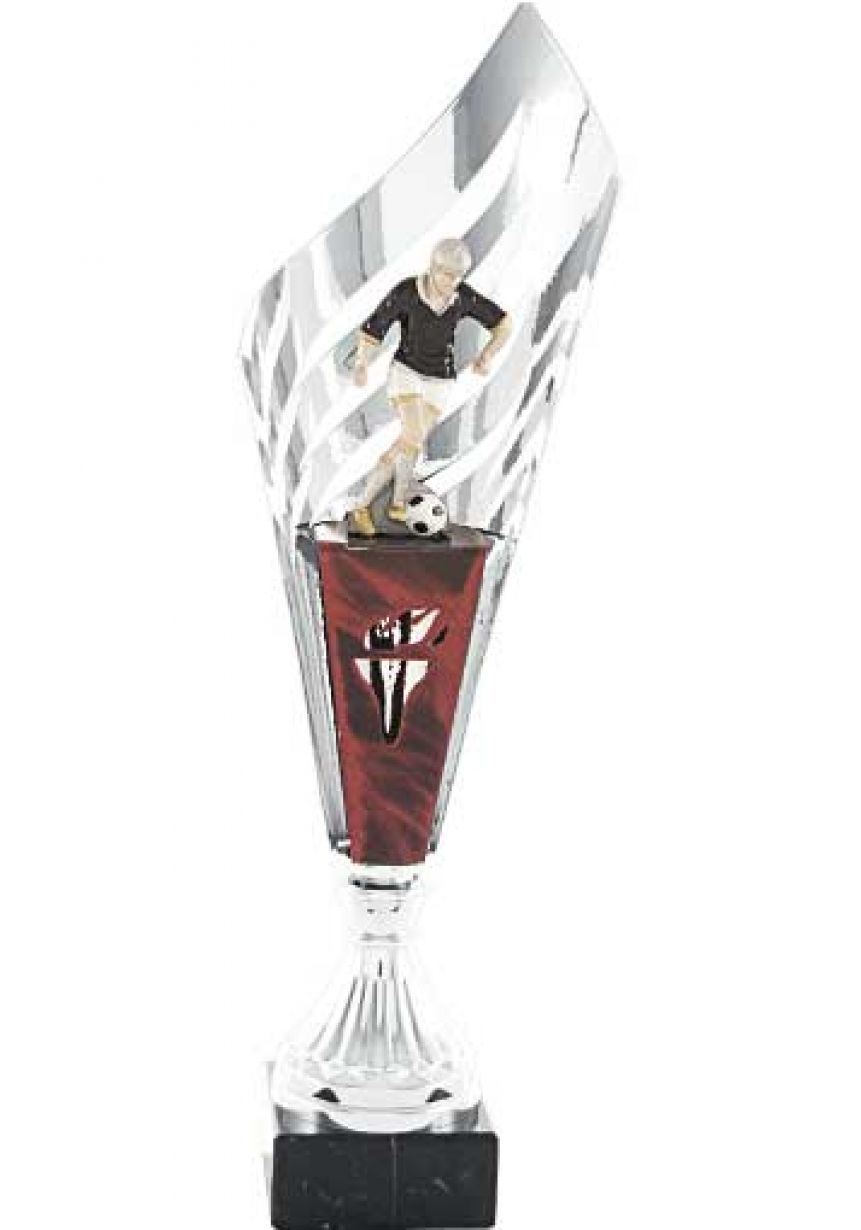 Trofeo copa semiabierta con hoja