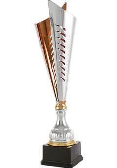 Trofeo copa corte dos hojas plata/bronce