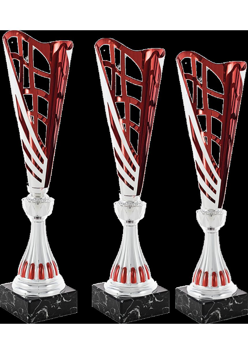 Trofeo copa corte dos hojas plata/rojo