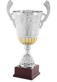 Trofeo copa bicolor plata/oro asas