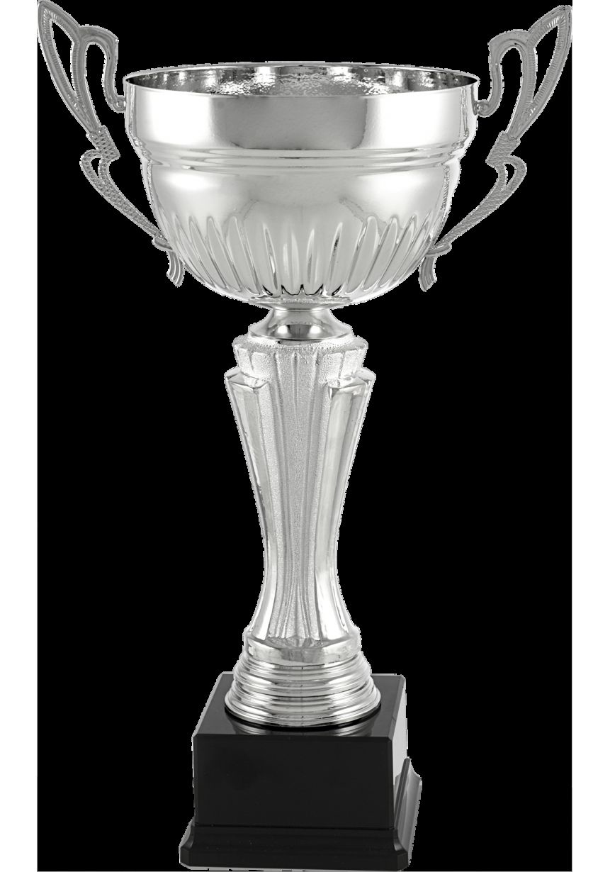 Trofeo copa plata con asas finas