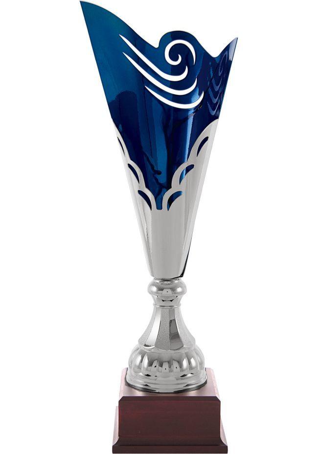 Trofeo copa vaso corte interior azul