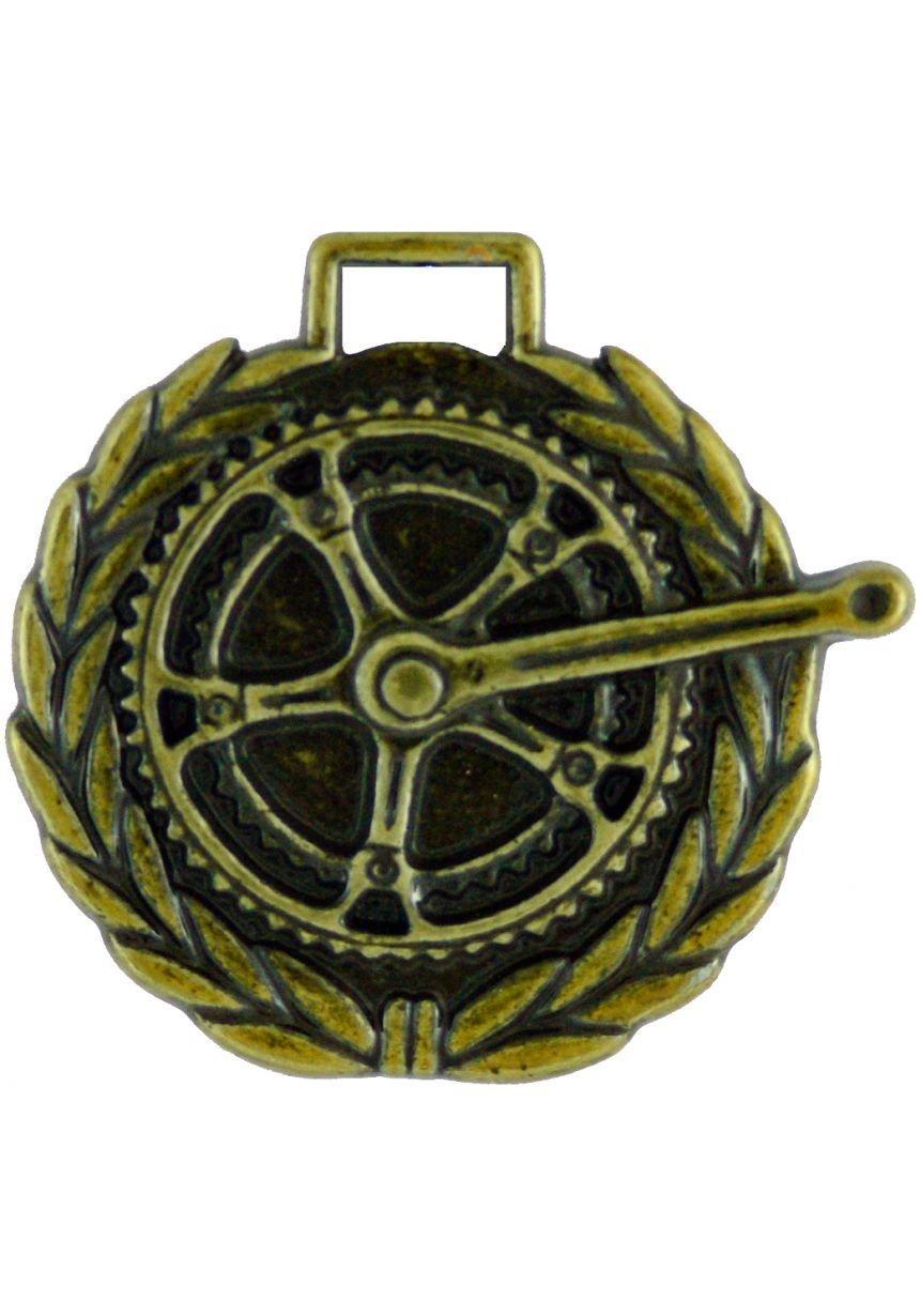 Medalla de ciclismo 50mm labrada