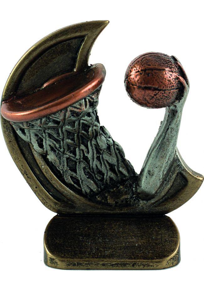 Trofeo deportivo en resina de baloncesto