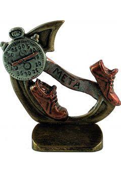 Trofeo deportivo en resina de running-cross