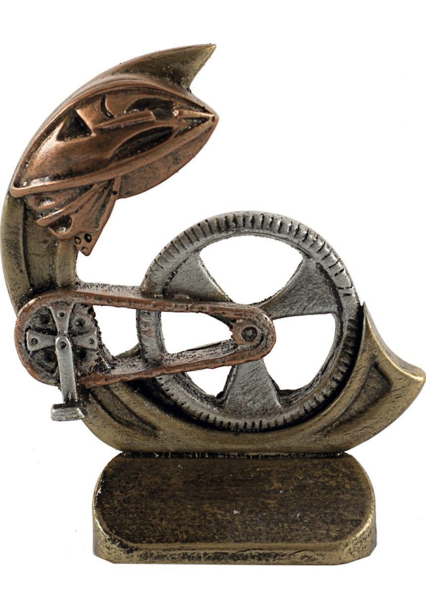 Trofeos deportivo en resina de ciclismo