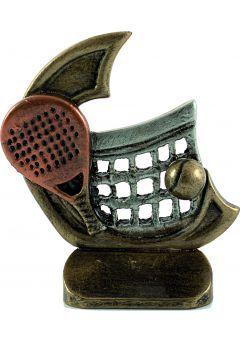 Trofeo deportivo en resina de pádel