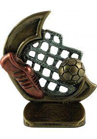 Trofeo deportivo en resina de fútbol