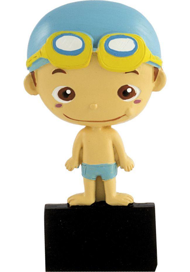 Trofeo con muñeco de natación