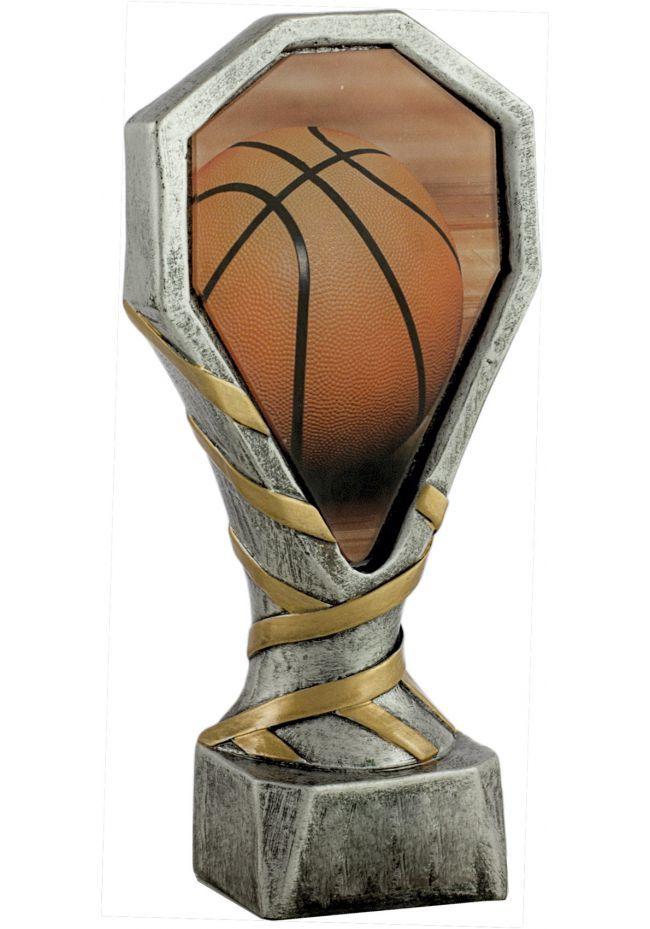 Trofeo de resina deportivo de baloncesto