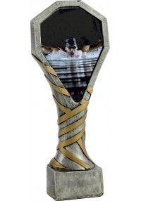 Trofeo de resina deportivo de natación