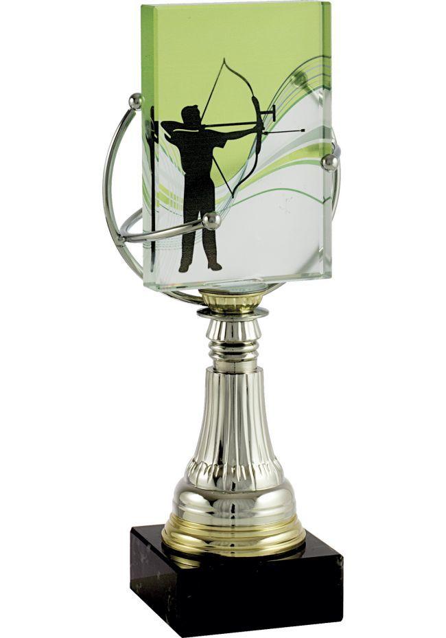 Trofeo de cristal aplique deportivo