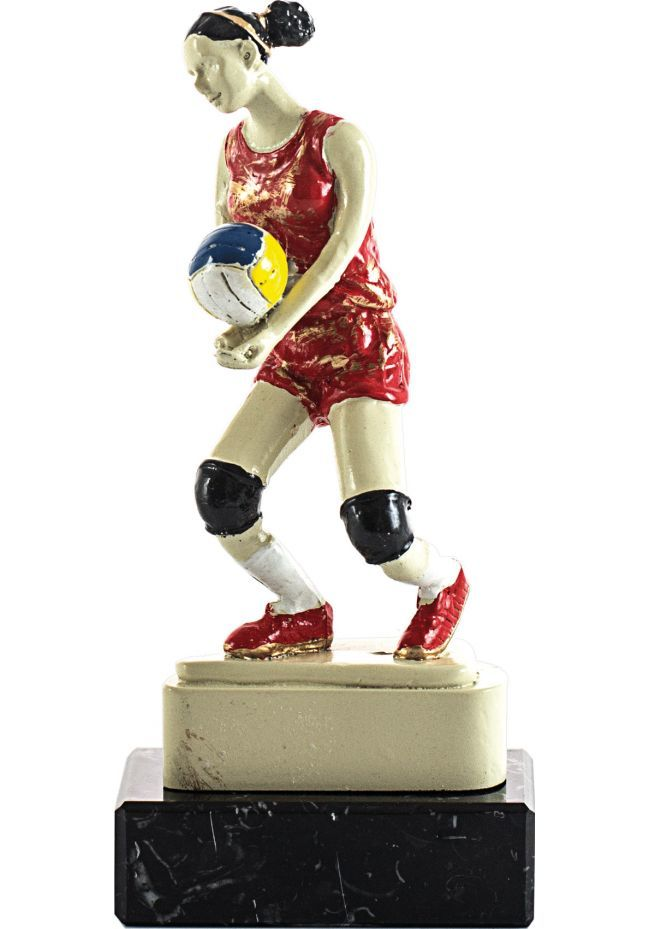 Trofeo de resina deportivo jugadora voleibol