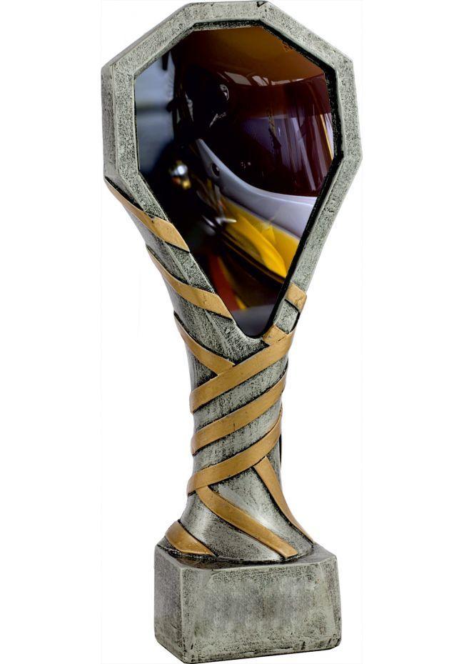Trofeo de resina con imagen de un Casco