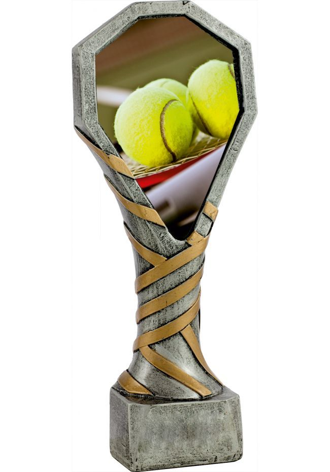 Trofeo de resina deportivo con imagen de Tenis