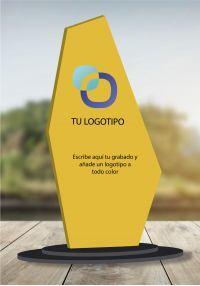 Trofeo de metacrilato especial logotipos